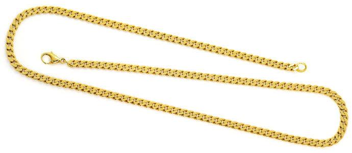 Foto 1, Flachpanzer Kette Goldkette 53cm in massiv Gelbgold 14K, K2657