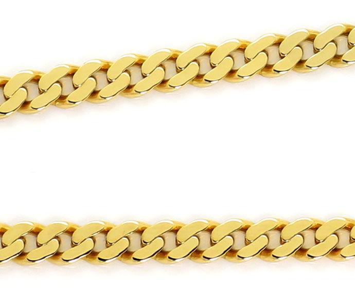 Foto 2, Flachpanzer Kette Goldkette 53cm in massiv Gelbgold 14K, K2657