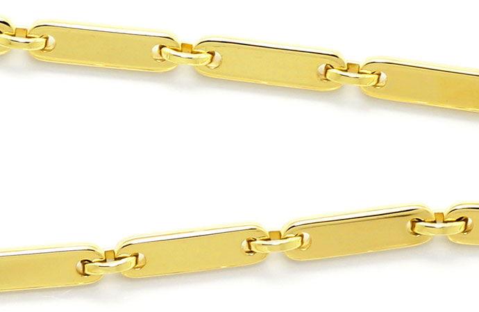 Foto 2, Plaettchen Goldkette 57cm Lang, massiv Gelbgold 14K/585, K2659