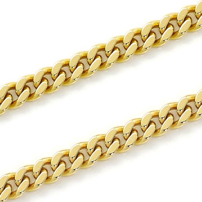 Foto 2, Flachpanzer Goldkette in 51cm Länge massiv Gelbgold 14K, K2662