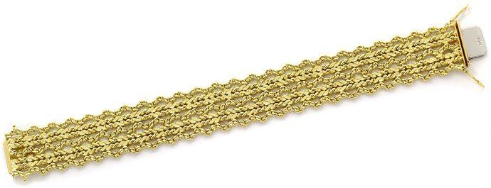 Foto 1, Massives Gelbgold Armband im Phantasie Flechtmuster 14K, K2665