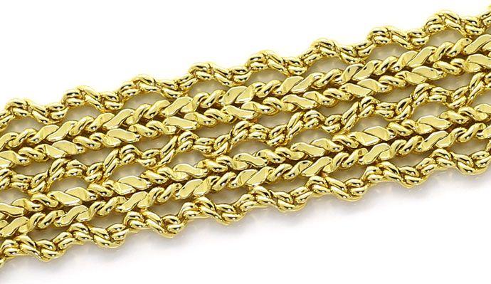 Foto 3, Massives Gelbgold Armband im Phantasie Flechtmuster 14K, K2665