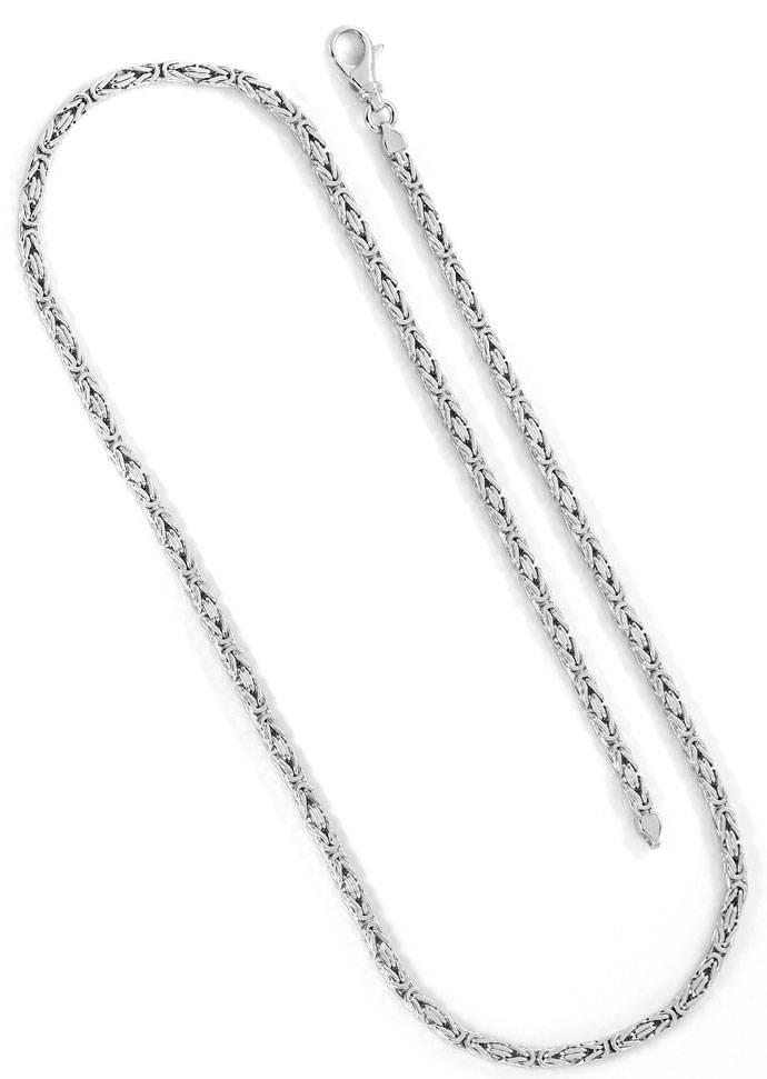 Foto 5, Edles Set aus Koenigskette und Armband in 14K Weissgold, K2666