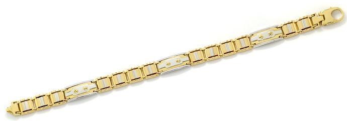 Foto 1, Designer Goldarmband in Zweifarbiger Ausführung 18K/750, K2675