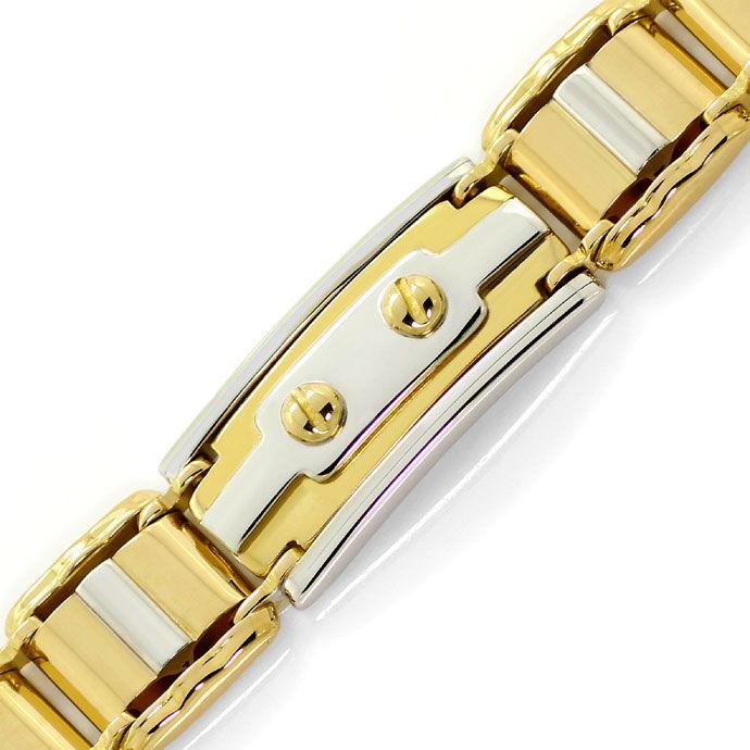 Foto 2, Designer Goldarmband in Zweifarbiger Ausführung 18K/750, K2675