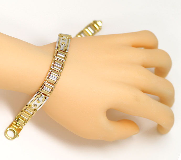 Foto 4, Designer Goldarmband in Zweifarbiger Ausführung 18K/750, K2675
