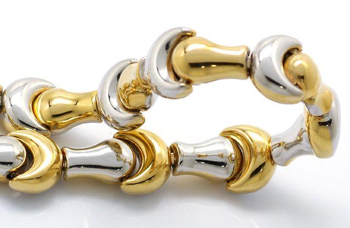 Foto 3, Designer Goldkette mit Armband Fantasie Mond Muster 18K, K2683