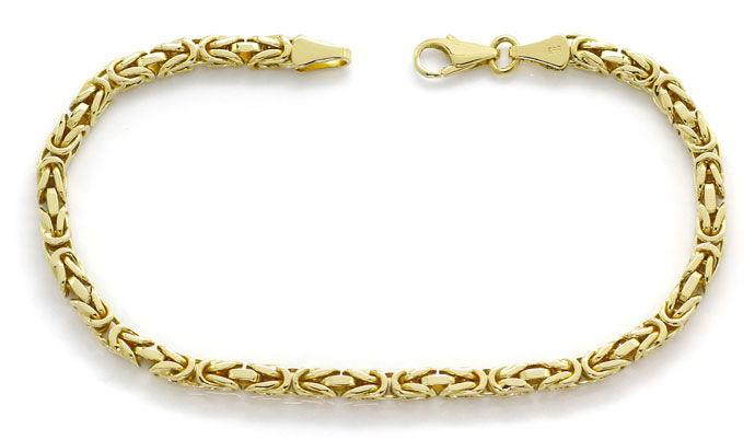 Foto 1, Massives Armband im Königsketten Muster in Gelbgold 14K, K2688