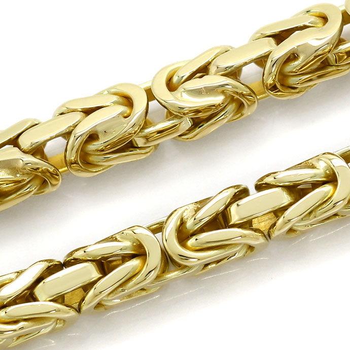 Foto 2, Massives Armband im Königsketten Muster in Gelbgold 14K, K2688