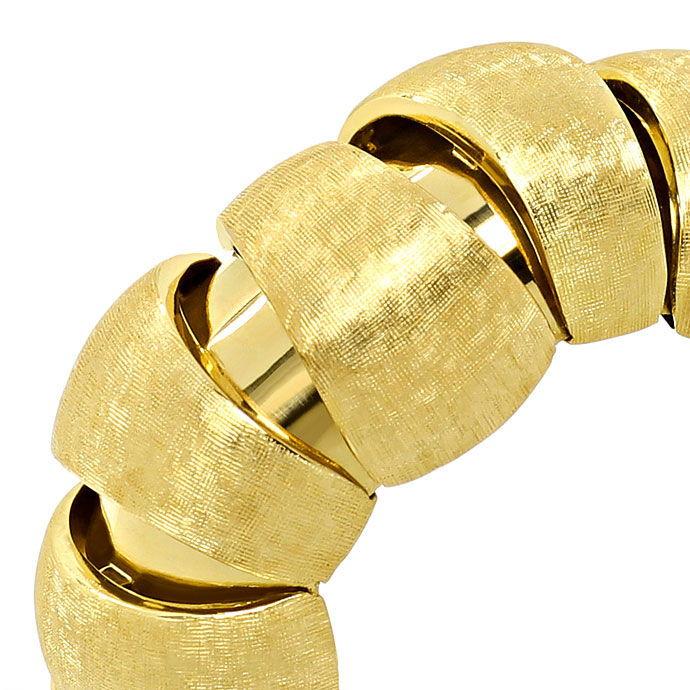 Foto 3, Sensations Gelbgold Armband, Plastisch, gewölbt 750/18K, K2692