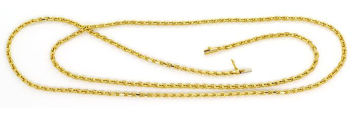Foto 1, Ankerkette massiv 70cm Kastenverschluss in 18K Gelbgold, K2698