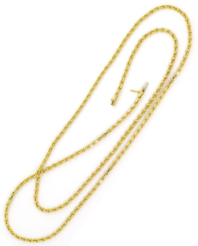 Foto 3, Ankerkette massiv 70cm Kastenverschluss in 18K Gelbgold, K2698