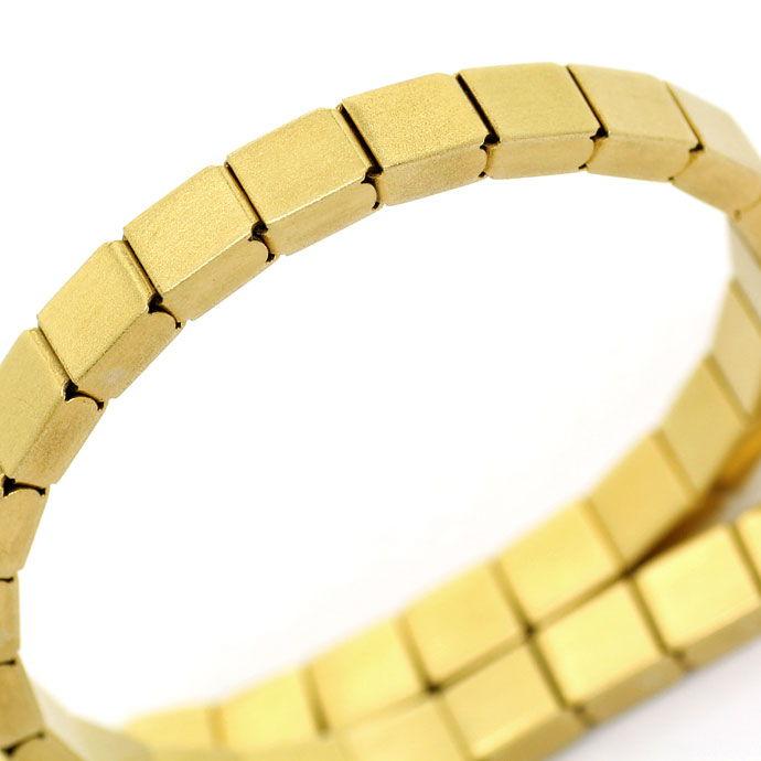 Foto 2, Armband im Domino Muster Kastenverschluss, 14K Gelbgold, K2700