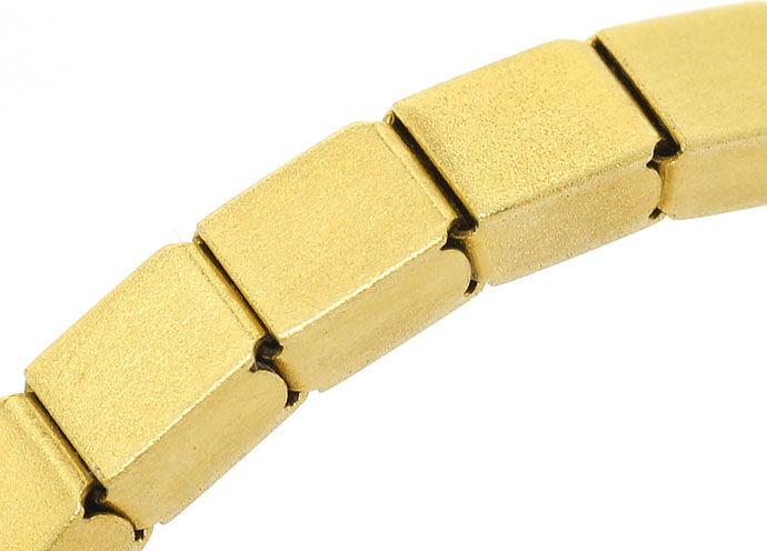Foto 3, Armband im Domino Muster Kastenverschluss, 14K Gelbgold, K2700