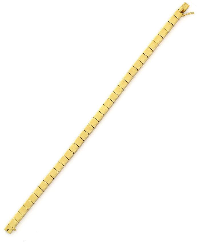 Foto 4, Armband im Domino Muster Kastenverschluss, 14K Gelbgold, K2700