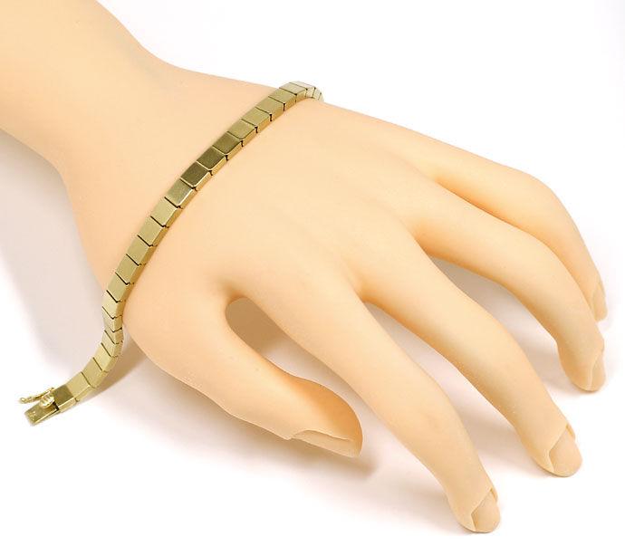 Foto 5, Armband im Domino Muster Kastenverschluss, 14K Gelbgold, K2700
