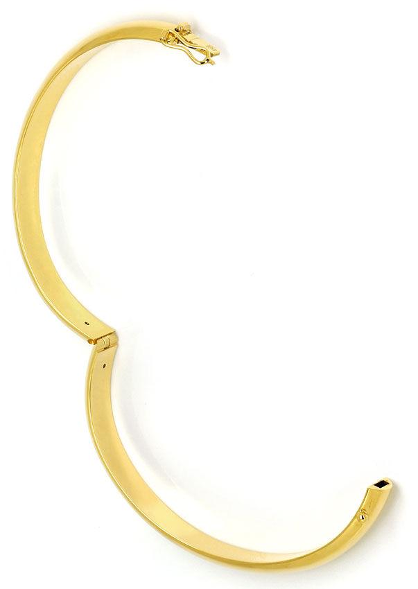 Foto 3, Eleganter Gelbgoldarmreif glatt in 14K Kastenverschluss, K2701