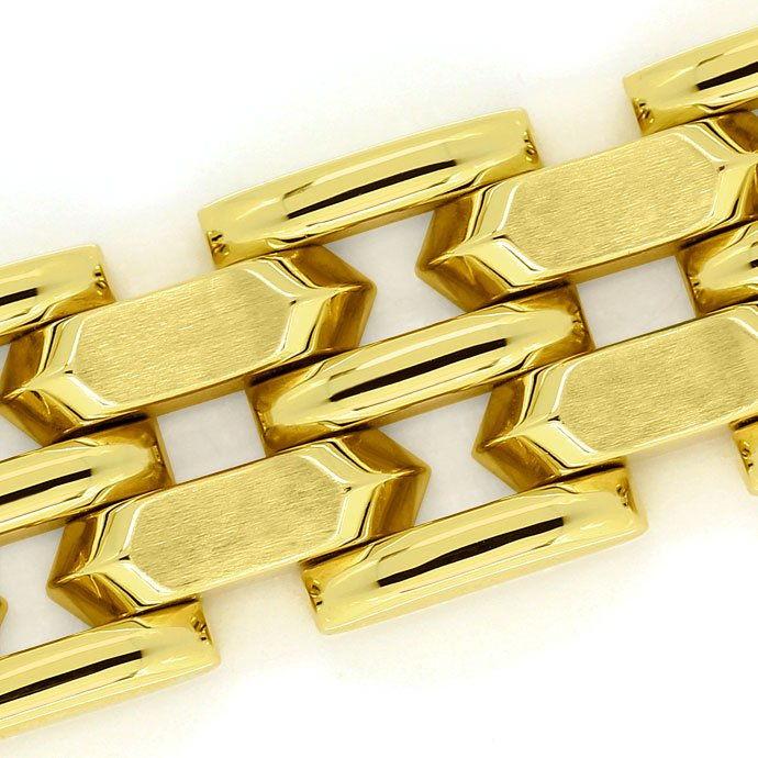 Foto 2, Armband im fünfreihigen Fantasie Muster in 14K Gelbgold, K2702