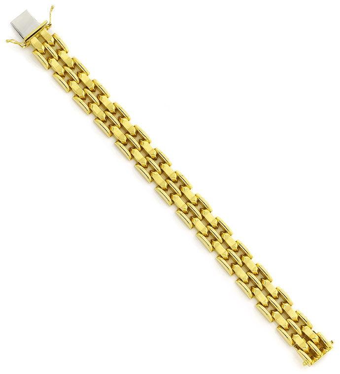 Foto 3, Armband im fünfreihigen Fantasie Muster in 14K Gelbgold, K2702