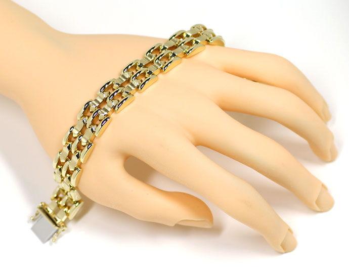 Foto 4, Armband im fünfreihigen Fantasie Muster in 14K Gelbgold, K2702