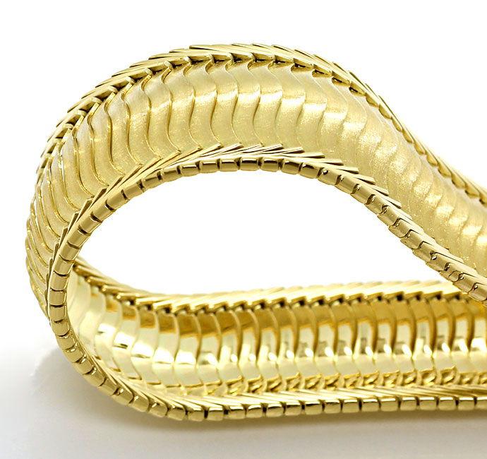 Foto 2, Gelbgold Armband Gewelltes Schuppen Muster 20,6mm Breit, K2704