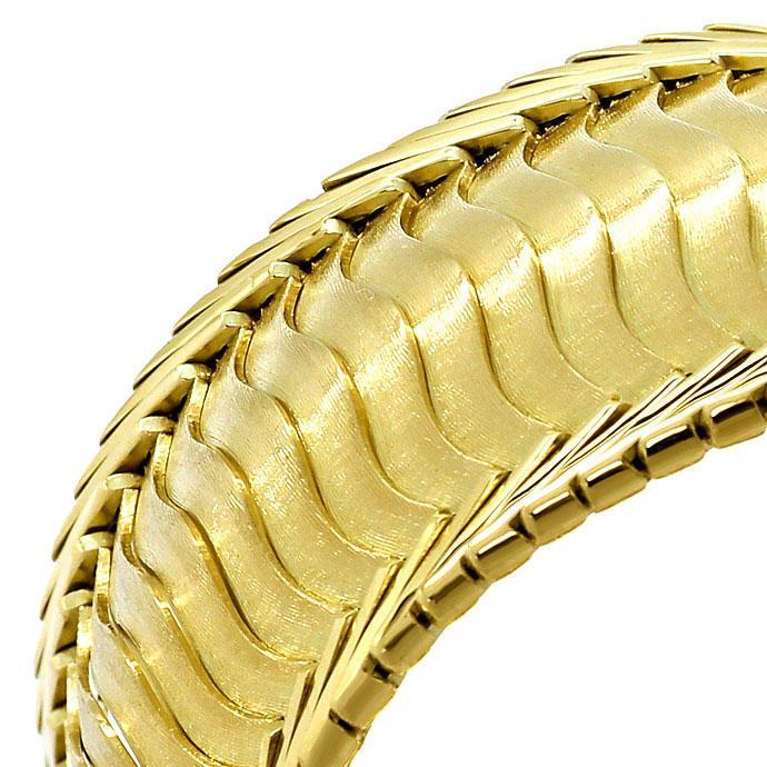 Foto 3, Gelbgold Armband Gewelltes Schuppen Muster 20,6mm Breit, K2704