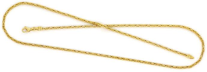 Foto 1, Massive Königskette 60cm Länge, Karabiner, Gelbgold 14K, K2706