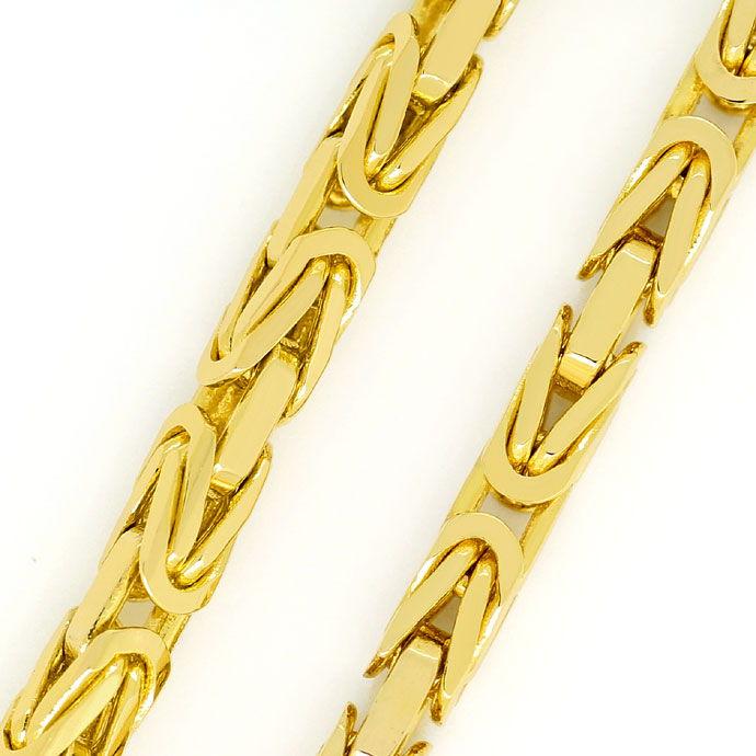 Foto 2, Massive Königskette 60cm Länge, Karabiner, Gelbgold 14K, K2706