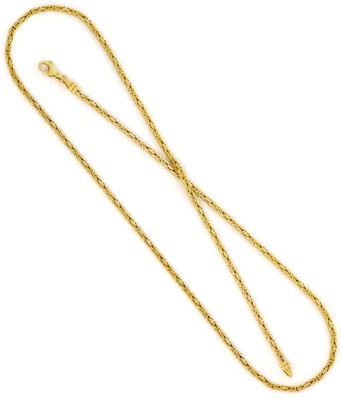 Foto 3, Massive Königskette 60cm Länge, Karabiner, Gelbgold 14K, K2706