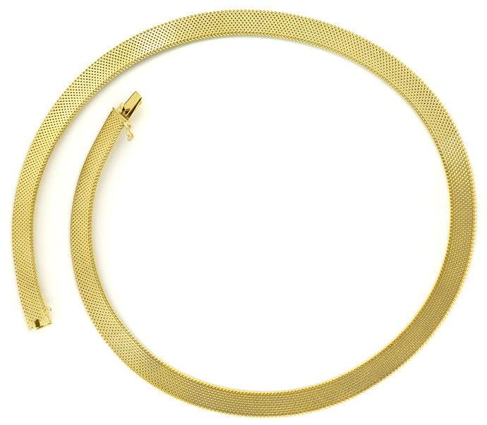 Foto 1, Dekoratives Milanaise Goldkollier, 43cm in 14K Gelbgold, K2709