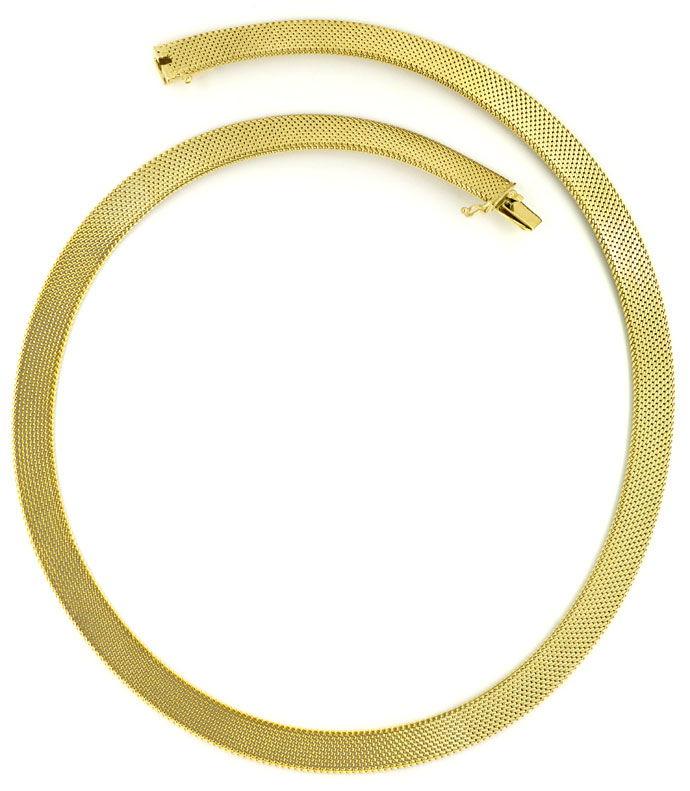 Foto 3, Dekoratives Milanaise Goldkollier, 43cm in 14K Gelbgold, K2709