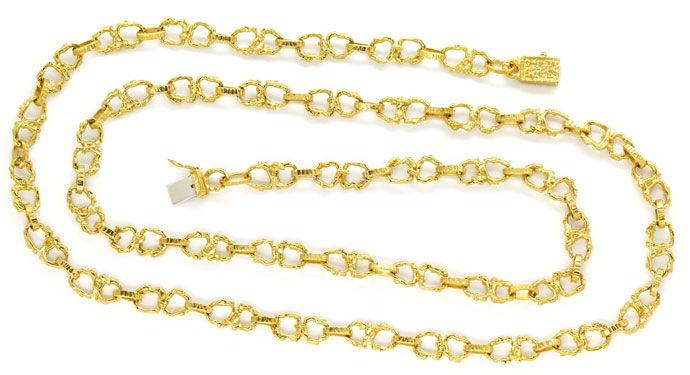 Foto 1, Brezel Goldkette 92cm lang in massivem Gelbgold 18K/750, K2713