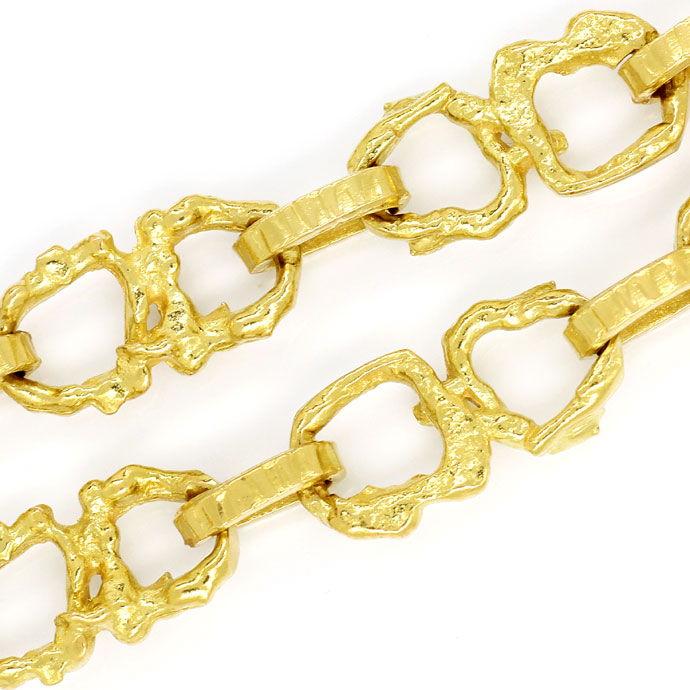 Foto 2, Brezel Goldkette 92cm lang in massivem Gelbgold 18K/750, K2713