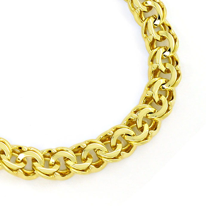 Foto 2, Gold Armband im Garibaldi Muster in 14K massiv Gelbgold, K2715