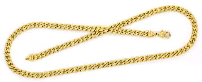 Foto 1, Gelbgoldkette, Flachpanzer Muster 51cm Länge in 14K/585, K2716