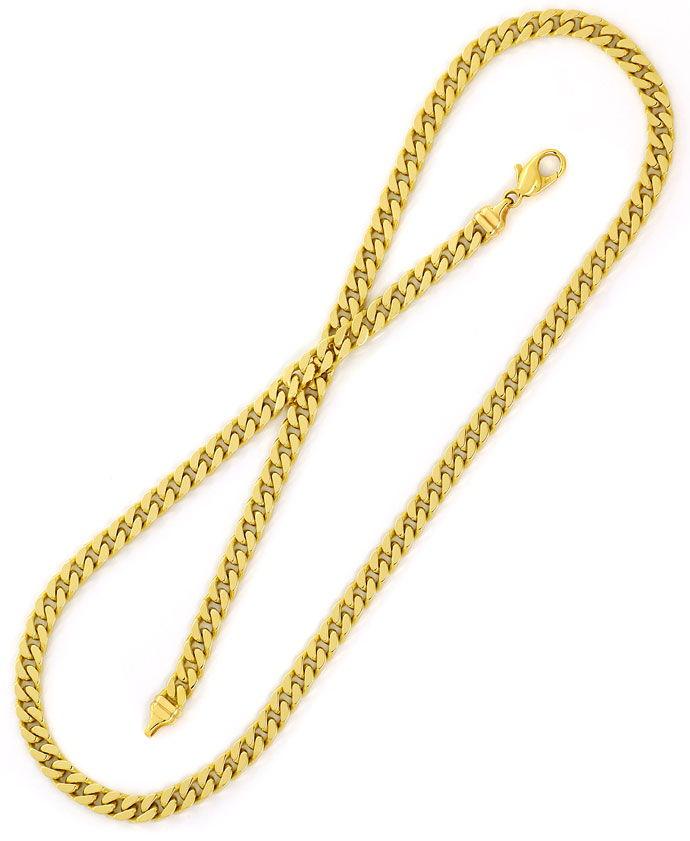 Foto 3, Gelbgoldkette, Flachpanzer Muster 51cm Länge in 14K/585, K2716