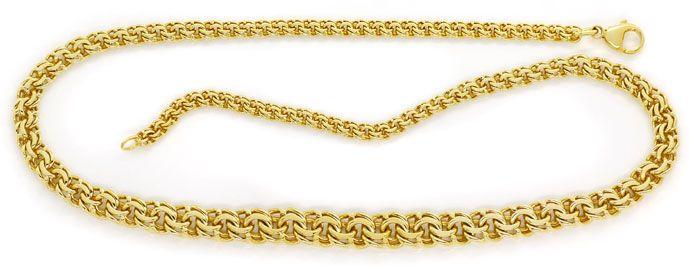 Foto 1, Massive Garibaldi Goldkette im Verlauf 14K/585 Gelbgold, K2721