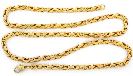 Foto 2, Neu!! Königs Kette massiv Gelbgold 14K Luxus! Portofrei, K2806