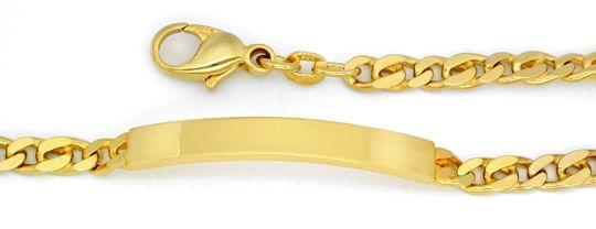 Foto 1, Neu!! Identitäts Armband Gelbgold 14K/585 massiv!! Shop, K2813