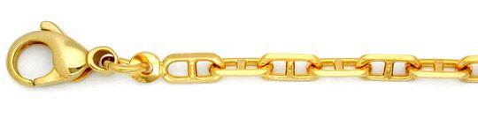 Foto 1, Top Steganker Kette massiv Gelbgold 18K/750 71cm Luxus!, K2819