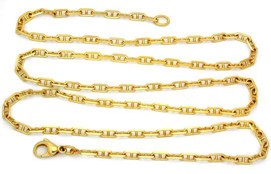 Foto 2, Top Steganker Kette massiv Gelbgold 18K/750 71cm Luxus!, K2819