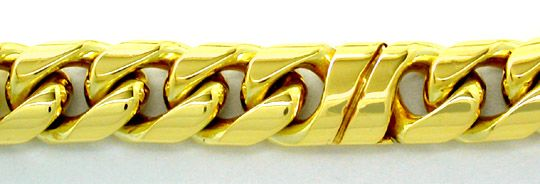 Foto 2, Design Armband massiv 14K Gelbgold Shop Neuw. Portofrei, K2831