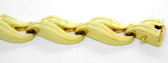 Foto 1, Neu! Wunderschönes Designer Armband Gelbgold 14K Luxus!, K2835