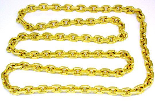 Foto 1, Super Massive Anker Kette 14K/585 Gelbgold Luxus! Neuw., K2836