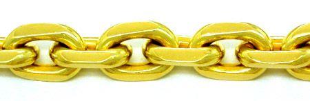 Foto 2, Super Massive Anker Kette 14K/585 Gelbgold Luxus! Neuw., K2836