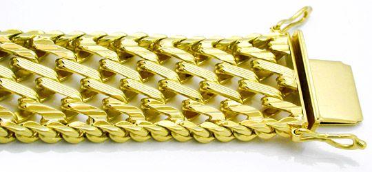 Foto 1, Sehr schönes geflochtenes Designer Armband 14K Gelbgold, K2837