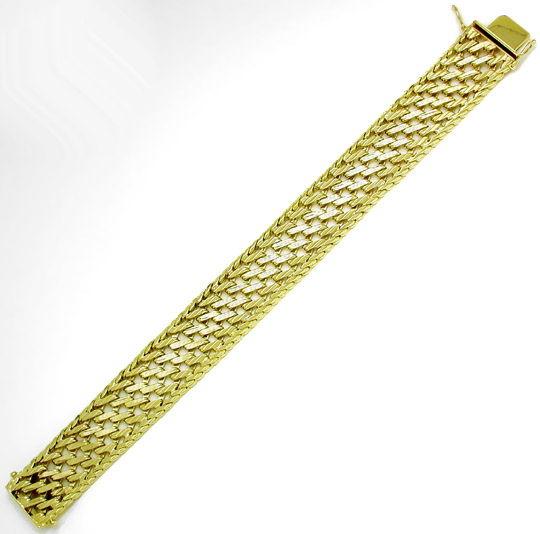 Foto 2, Sehr schönes geflochtenes Designer Armband 14K Gelbgold, K2837