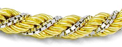 Foto 2, Kordel Armband Bicolor 18K/750 Shop Abs.Neuw. Portofrei, K2838