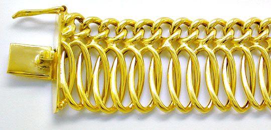 Foto 1, Sehr dekoratives Gelbgold Kollier 14K/585 Luxus! Neuw.!, K2843