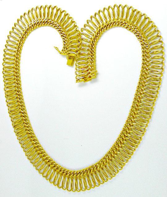 Foto 2, Sehr dekoratives Gelbgold Kollier 14K/585 Luxus! Neuw.!, K2843